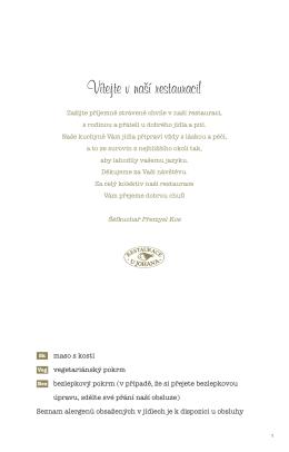 nový jídelní lístek - Restaurace U Johana