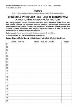 Petice proti provozu motorových člunů