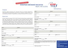 EVROPSKÁ OBČANSKÁ INICIATIVA PROTI TTIP A CETA!
