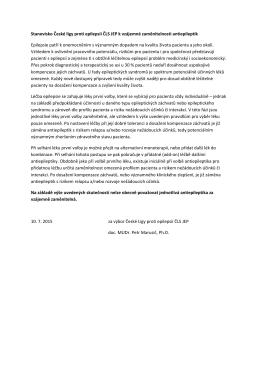 Stanovisko České ligy proti epilepsii ČLS JEP k vzájemné