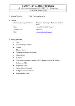 Datový list TRIO Proti prachu spray