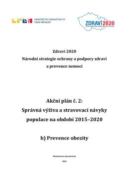 Akční plán proti obezitě - Ministerstvo zdravotnictví