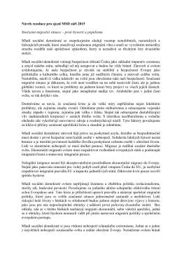Proti hysterii a populismu_mimořádný Sjezd MSD 19. 9. 2015, Brno