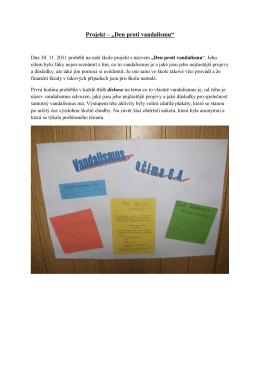 "Projekt – ""Den proti vandalismu"""