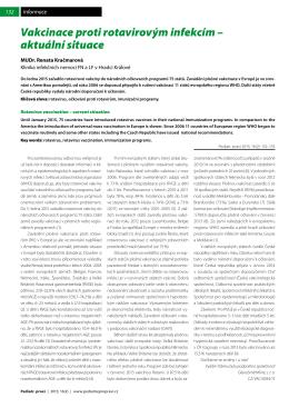 Vakcinace proti rotavirovým infekcím – aktuální situace