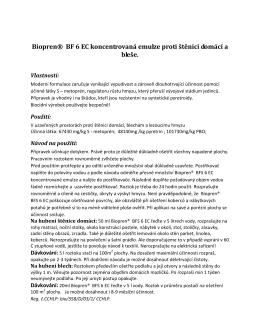 Biopren® BF 6 EC koncentrovaná emulze proti štěnici