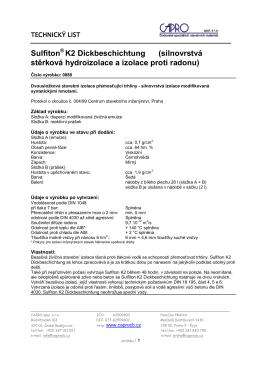 Sulfiton K2 Dickbeschichtung (silnovrstvá