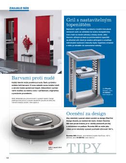 Ocenění za design Gril s nastavitelným topeništěm Barvami proti nudě