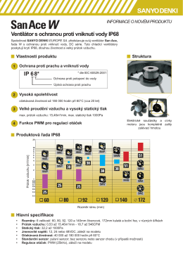 IP 68* Ventilátor s ochranou proti vniknutí vody IP68