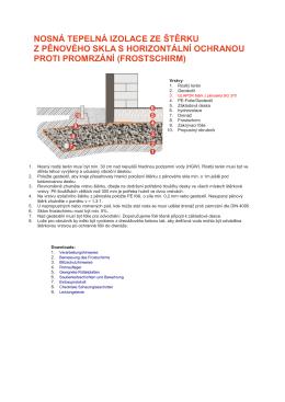 Použití štěrku z pěnového skla s ochranou proti