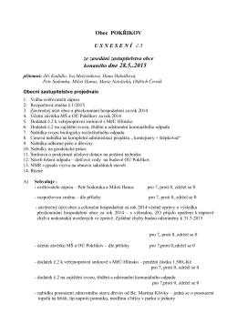 Usnesení 5/2015, zde ke stažení.