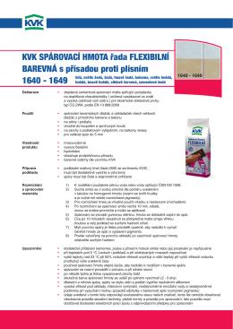 KVK spároVací hmota řada FLEXIBILNí BarEVNá s přísadou proti