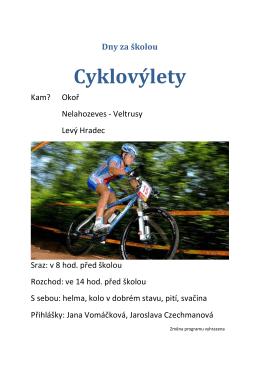 Cyklovýlety - DG a OA Kralupy nad Vltavou