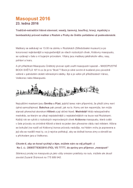 Masopust 2016 - Středočeské muzeum v Roztokách u Prahy