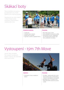 Skákací boty Vystoupení - tým 7th Move