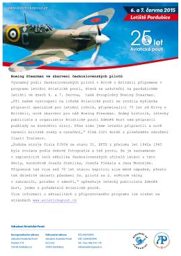 Boeing Stearman ve zbarvení československých pilotů Významný