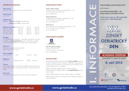 program - Česká gerontologická a geriatrická společnost