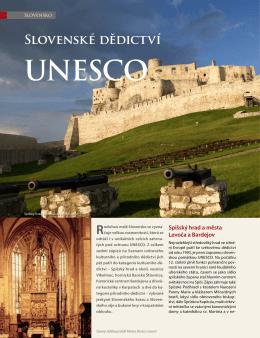 článek Slovenské dědictví UNESCO (příloha revue V4 2012)