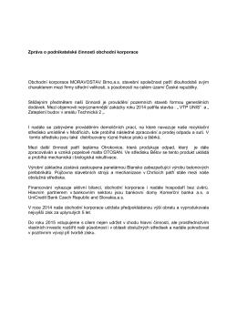 ke stažení - MORAVOSTAV Brno, a.s. stavební společnost