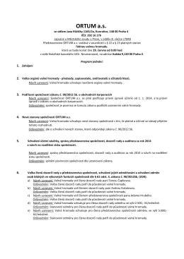 Pozvánka na Valnou hromadu konanou 29.6.2015 - APO-TIP