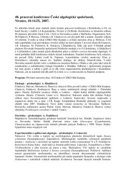 48. pracovní konference, Nivnice, 2007