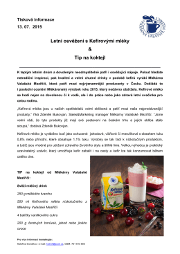 Letní osvěžení s kefírovými mléky