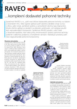 ...komplexní dodavatel pohonné techniky