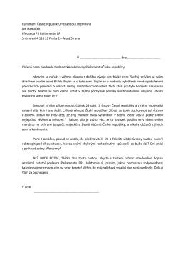 Stáhnout PDF pro předsedu Poslanecké sněmovny