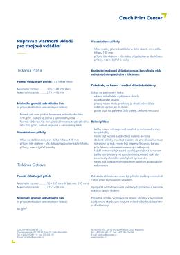 Příprava a vlastnosti vkladů