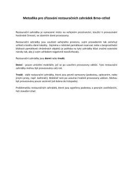 Příloha - Metodika pro zřizování restauračních zahrádek - Brno