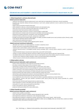 Všeobecné podmínky a zásady chování dodavatelů v - Com-Pakt
