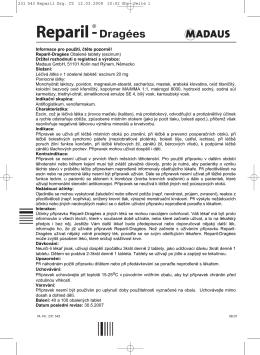 Příbalová informace – Informace pro uživatele (tištěná verze)