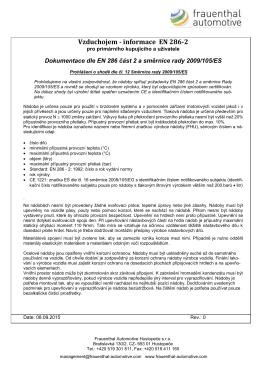 Behälter-Information u. Konformitätserklärung