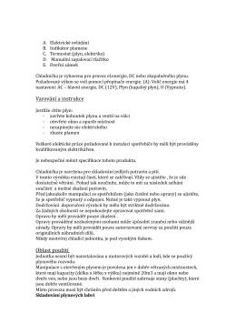 Varování a instrukce Oblast použití