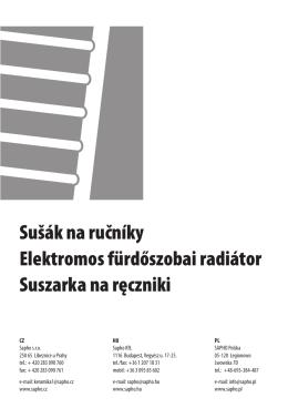 Sušák na ručníky Elektromos fürdőszobai radiátor Suszarka na