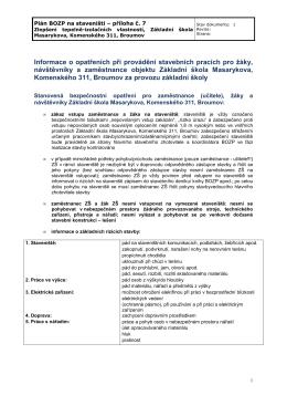 Plán bezpečnosti - Masarykova základní škola Broumov