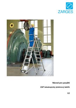 Návod teleskopický plošinový žebřík ZAP