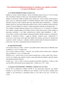 II.4.2.Vliv položek na cenu vodného a stočného