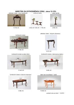nábytek za zvýhodněnou cenu bez množství sleva 12-15