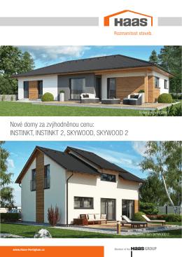 Nové domy za zvýhodněnou cenu: INSTINKT