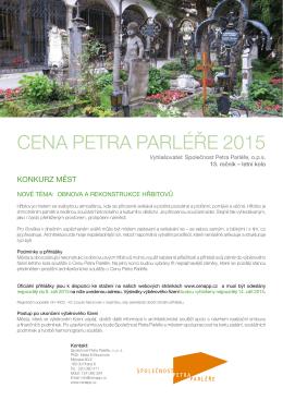 CENA PETRA PARLÉŘE 2015 - Společnost Petra Parléře, ops