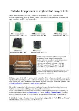 Nabídka kompostérů za zvýhodněné ceny-3. kolo