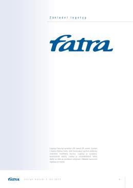 Logomanuál loga Fatra