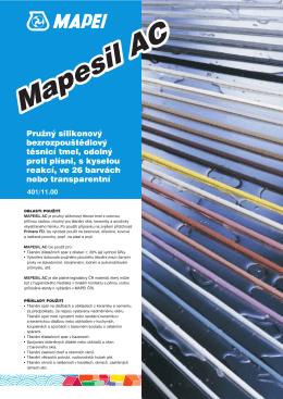 Technický list - Mapesil AC