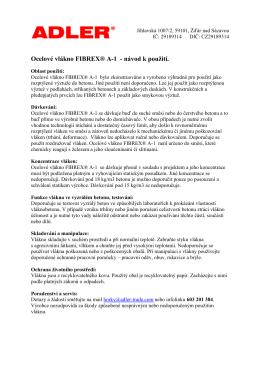 Ocelové vlákno FIBREX® A-1