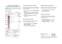 Stručný úvod k aplikaci Cisco Jabber for Windows 11.0