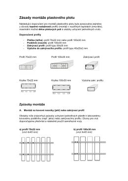 Zásady montáže plastového plotu