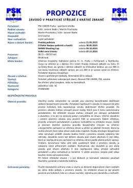 PROPOZICE - PSK Union Praha