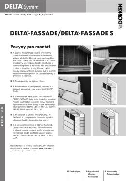 montážní návod - Delta Fassade