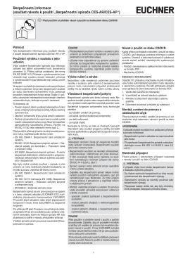Bezpečnostní informace (součást návodu k použití